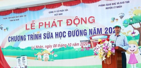 Ông Nguyễn Thanh Dương – Giám đốc Trung tâm Kiểm soát Bệnh tật tỉnh Hà chia sẻ tại lễ phát động