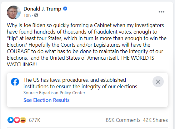 Ông Trump: 'Điều tra viên của tôi đã tìm ra hàng trăm nghìn phiếu gian lận, đủ sức 'lật' ít nhất 4 bang!' - Ảnh 1