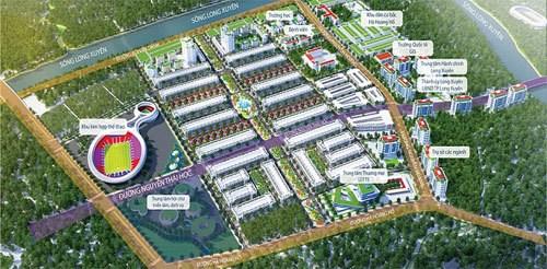 Phối cảnh dự án Khu đô thị Golden City An Giang.