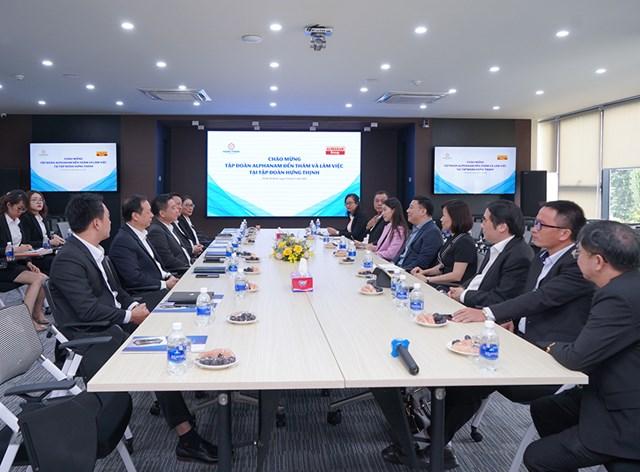 Toàn cảnh buổi gặp mặt và làm việc của Tập đoàn Hưng Thịnh và Tập đoàn Alphanam