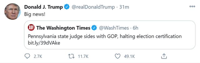 Ông Trump nhận 2 tin vui: Quyết định bất ngờ của tòa án Pennsylvania và một 'thắng lợi lớn' ở Nevada - Ảnh 1