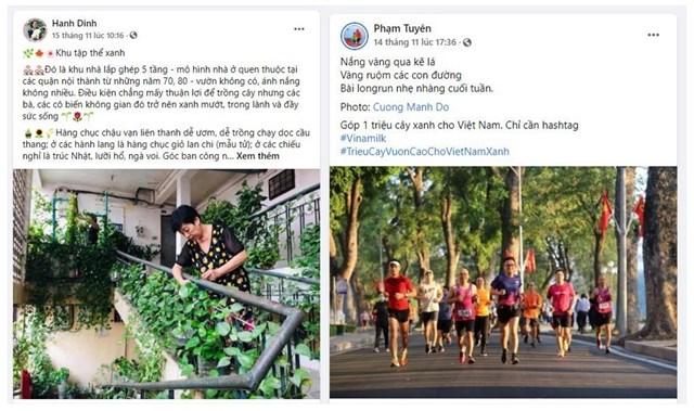 """Những câu chuyện đời thường nhưng rất dễ thương như """"Khu tập thể xanh"""" hay """"Đường chạy bộ giữa hàng cây"""" được chia sẻ trong các bài đăng tham gia chiến dịch."""