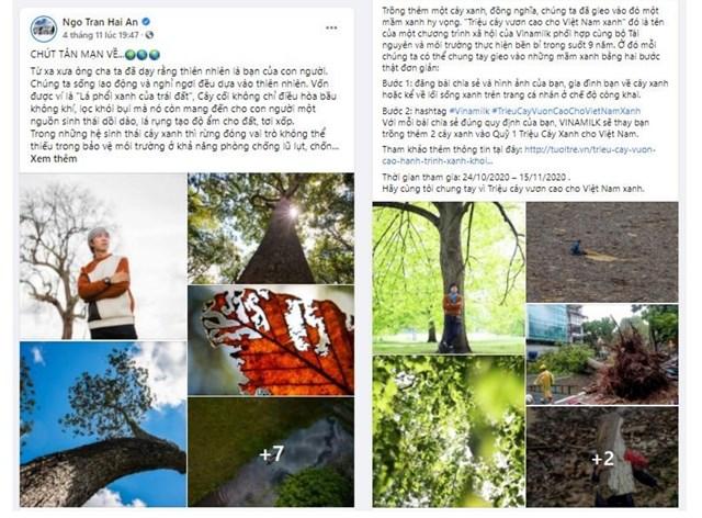Thông điệp bảo vệ môi trường và trân trọng thiên nhiên - người bạn của con người đã được FB Ngo Tran Hai An, FB Nguyen Khanh chia sẻ.