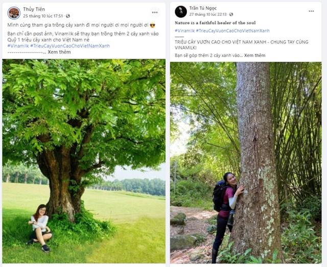 """Tạo dáng với cây xanh, khoe ảnh cùng cây xanh bỗng chốc trở thành """"trend"""" của các bạn trẻ yêu thiên nhiên."""