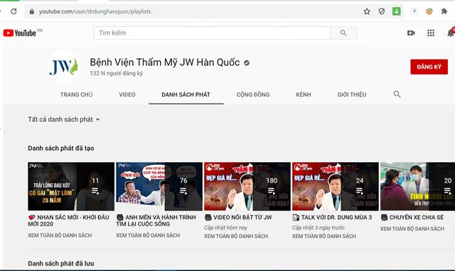 """Kênh Youtube của các thẩm mỹ viện này có số lượng người đăng kí """"khủng"""""""