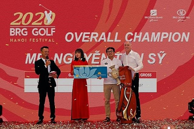 Golfer Nguyễn Tiến Sỹ giành giải vô địch BRG Golf Hanoi Festival 2020