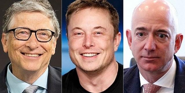 Ba tỷ phú giàu nhất thế giới đang có mức thuế thu nhập là 0%. Ảnh: Getty Images.