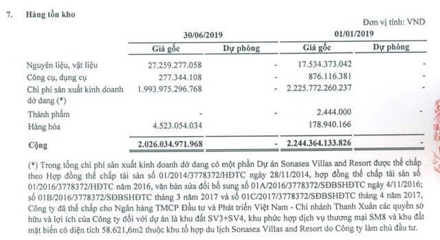 Nguồn: BCTC hợp nhất quý 2/20219 đã soát sét.