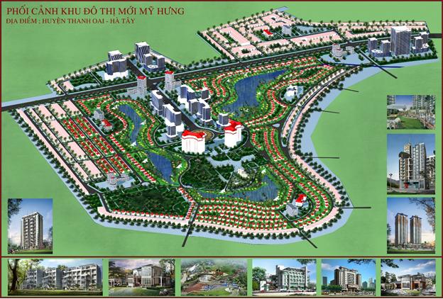 Phối cảnh dự án Khu đô thị Mỹ Hưng – Cienco5.