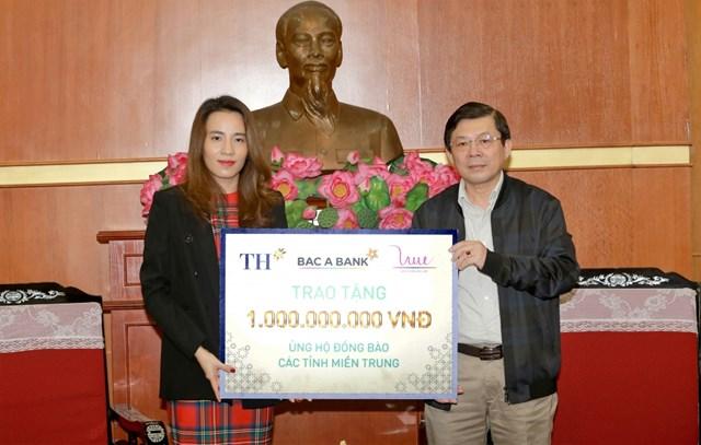 Tập đoàn TH ủng hộ 1 tỉ đồng giúp đồng bào vùng lũ miền Trung - Ảnh 1