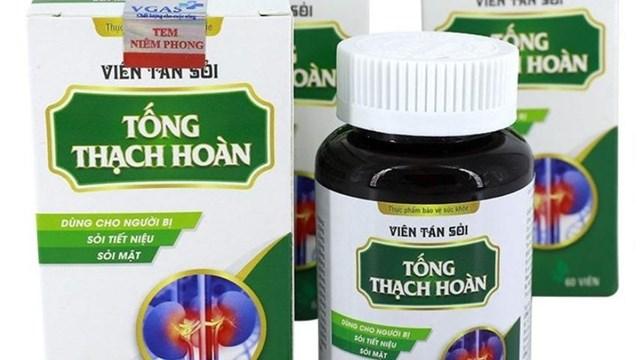 """Thực phẩm bảo vệ sức khỏe Viên tán sỏi Tống Thạch Hoàn """"nổ"""" công dụng như thuốc chữa bệnh."""