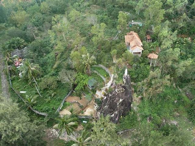 Toàn cảnh các công trình xây dựng của ông Phan Phi Hổ tại núi Xuân Vân