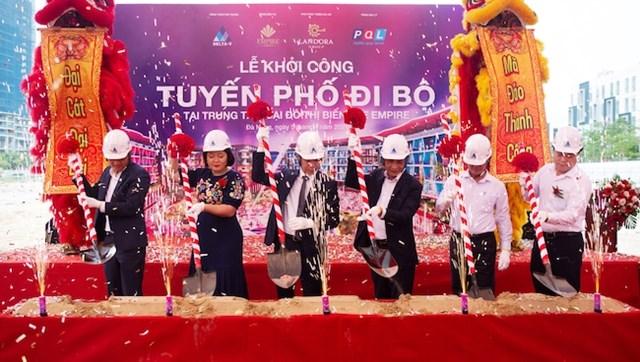 Chính thức khởi công Tuyến phố đi bộ tại dự án The Empire Đà Nẵng