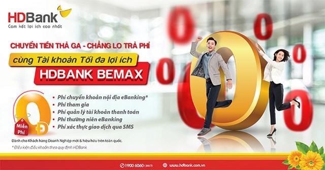 HDBank tiếp tục miễn nhiều loại phí giao dịch trực tuyến với BeMax - Ảnh 1