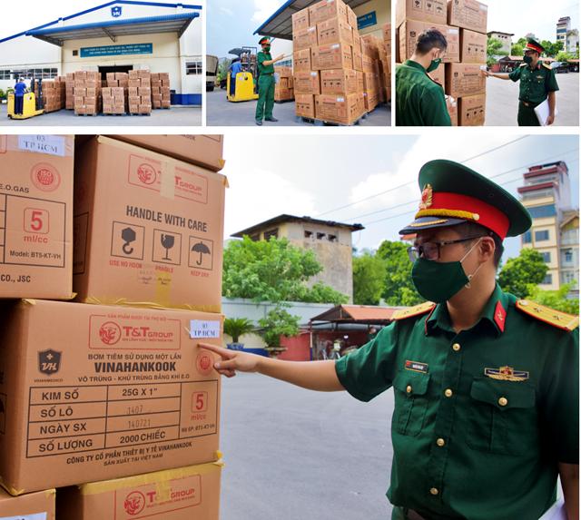 Trong 2 ngày 31/8 và 1/9, Tập đoàn T&T Group đã bàn giao cho Bộ Y tế 8,5 triệu bơm kim tiêm nhằm phục vụ cho chiến dịch tiêm chủng quốc gia phòng COVID-19.