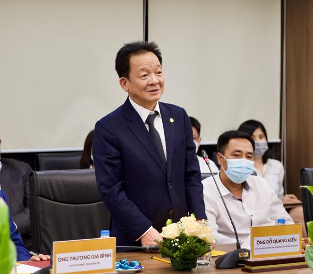 Ông Đỗ Quang Hiển, Chủ tịch HĐQT kiêm Tổng Giám đốc Tập đoàn T&T Group phát biểu tại sự kiện.