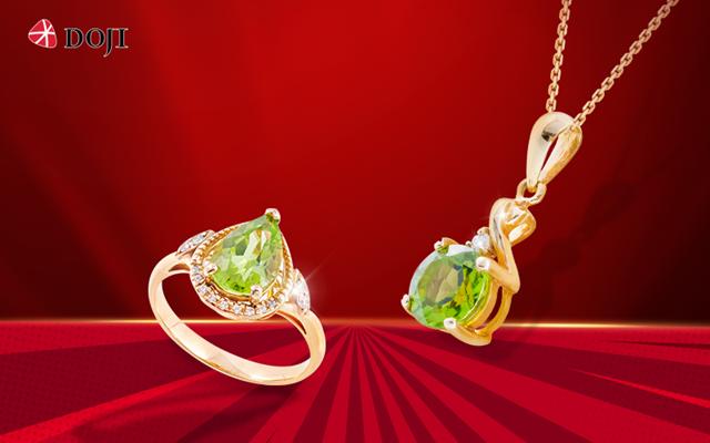 Sản phẩm đá màu của DOJI được thiết kế để khéo léo tạo điểm nhấn, tôn vinh vẻ đẹp Á Đông.